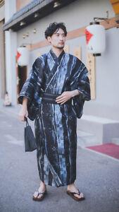 2021 Authentischer japanischer traditioneller Kimono mit Gürtel für Männer