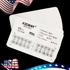 Usa 10x Dental Orthodontic Metal Brackets Brace Mini Mbt Slot022 Hooks 3 Azdent