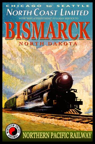 NORTH COAST Limited Train Poster Northern Pacific Railway Retro Art Print 069