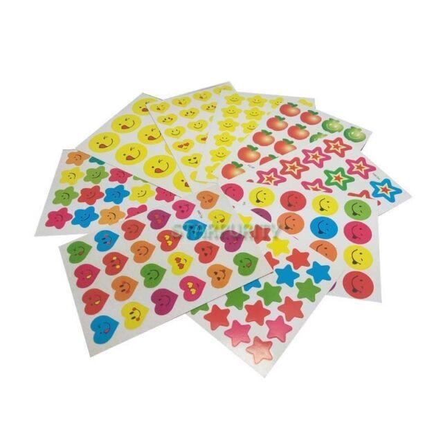 10Pcs Sheet Children Reward Stickers Kid Motivation Praise School Teacher Lables