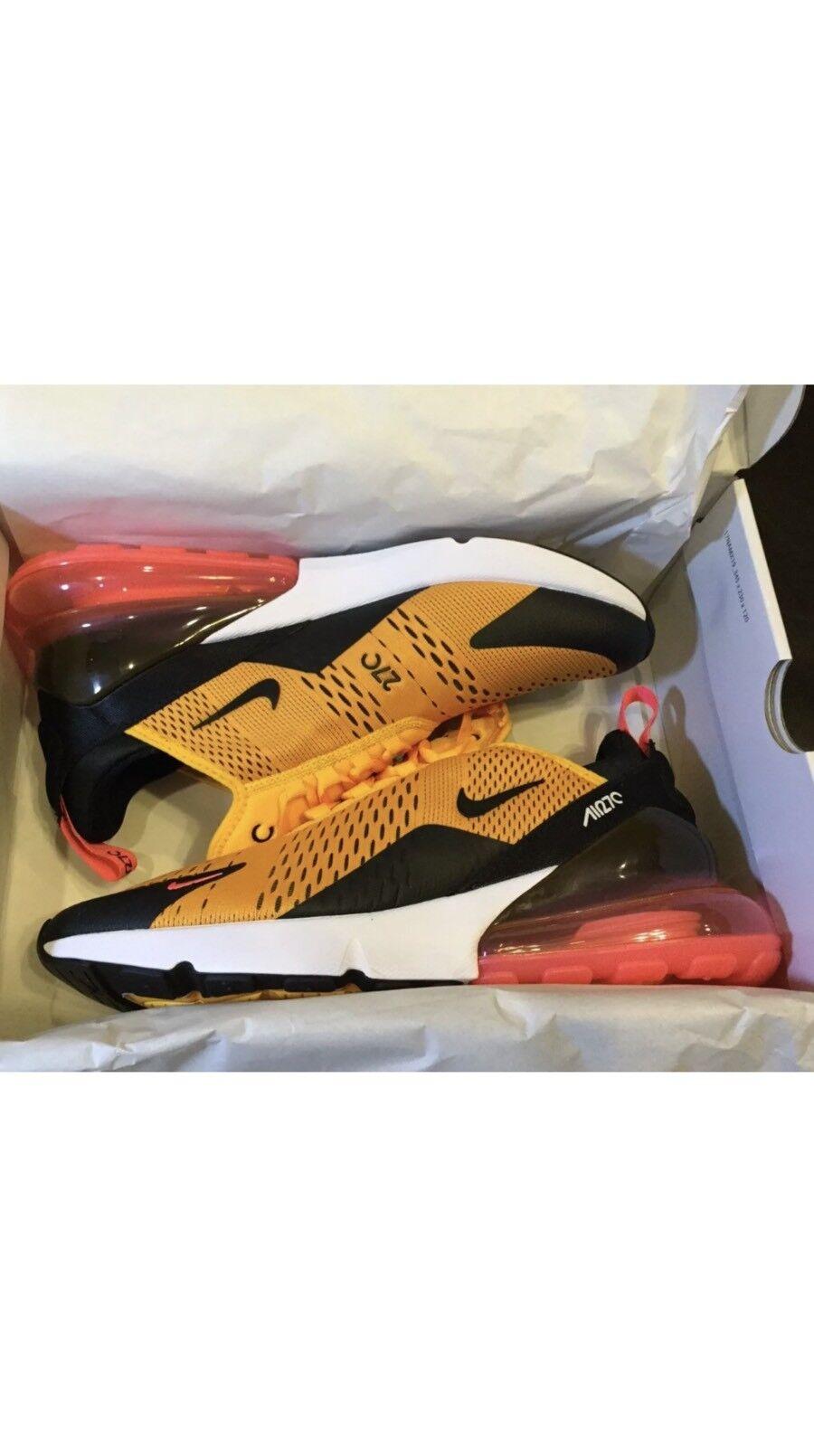 09ae4b5e9c NEW Nike Air Max 270 Tiger Black University gold AH8050-004 Size 9.5 AND 10