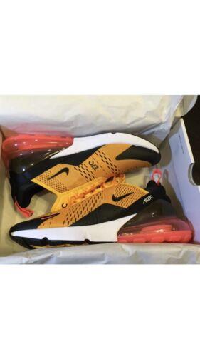 NEW Nike Air Max 270 Tiger Black//University Gold AH8050-004 Size 9.5 AND 10