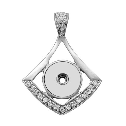 Hot Women Crystal Jewelry Necklace Pendant Fit 18mm Noosa Snap Button N155