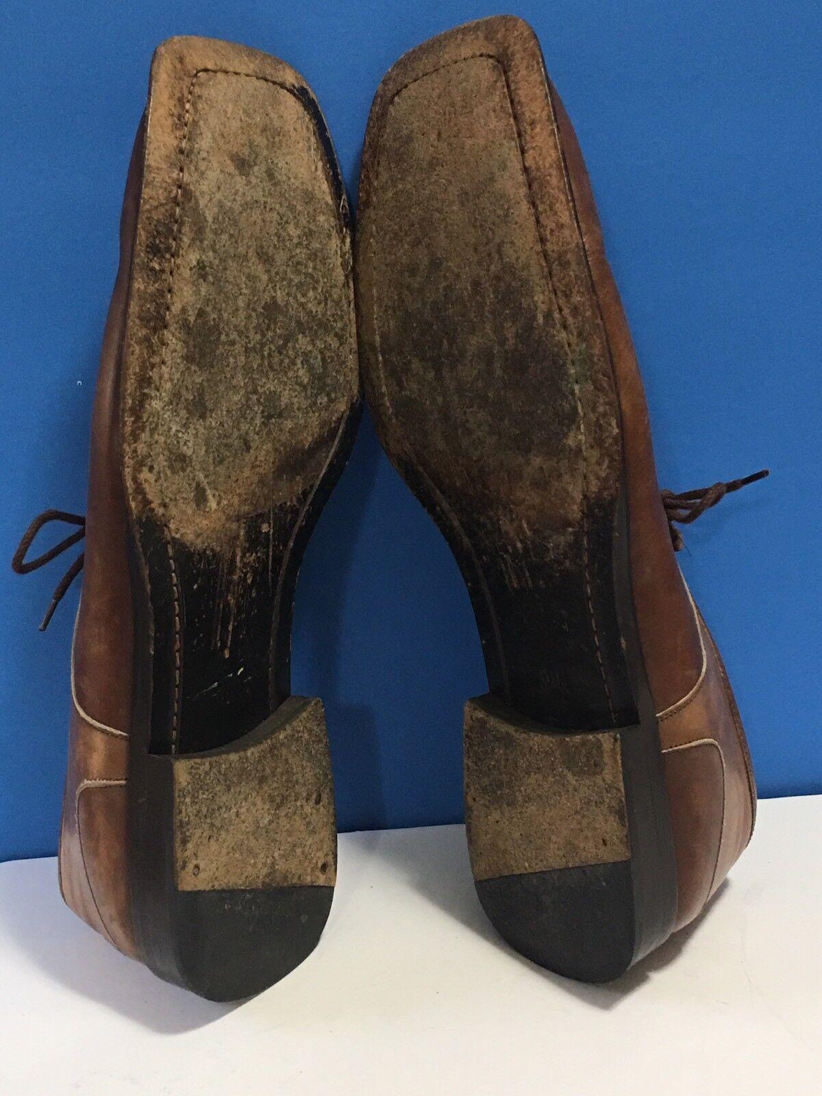 "Mezlan ""MALTA"" Mens Brown Tan Leather Square Toe … - image 6"