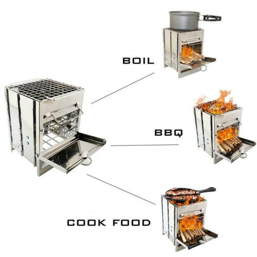 Fold Barbecue Charcoal Grill Stove Kabob Oven Stainless Steel BBQ Patio Camping