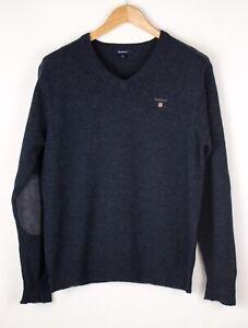 GANT-Men-Lambswool-Casual-Knit-Sweater-Jumper-Size-M-ATZ648