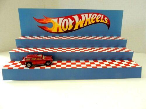 Display 3 platforms for Hot wheels cars// trucks// Blue Wow wow wow  Hot Wheels