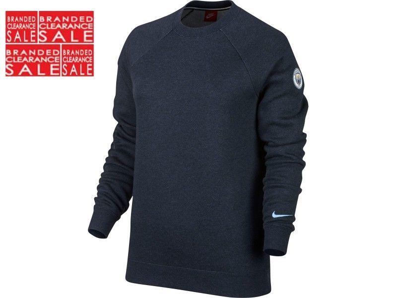 BNWT Nuovo Donne Nike Uomo Manchester City Maglione Pullover Felpa Blu Scuro Tutte Le Taglie