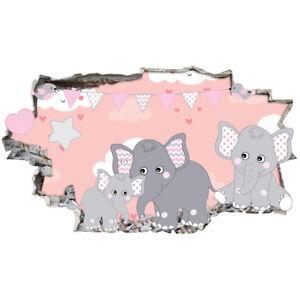 J214 Baby Cute Elephants Nursery Wall Stickers Bedroom Girls Boys Kids Room