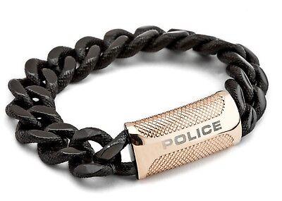 Police RAIDER Men/'s Black and Rose Gold Plated Bracelet 25508BSB//05-L