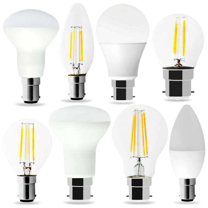 B22 B15 LED Bulbs Bayonet Cap Bulb Filament Milk Warmwhite Set of 10, non-dimmab