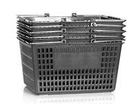 Shopping Basket Set Set Of 6 Black
