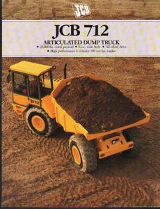 """Adaptable Jcb"""" 712"""" Articulated Dump Truck Brochure Dépliant-afficher Le Titre D'origine"""