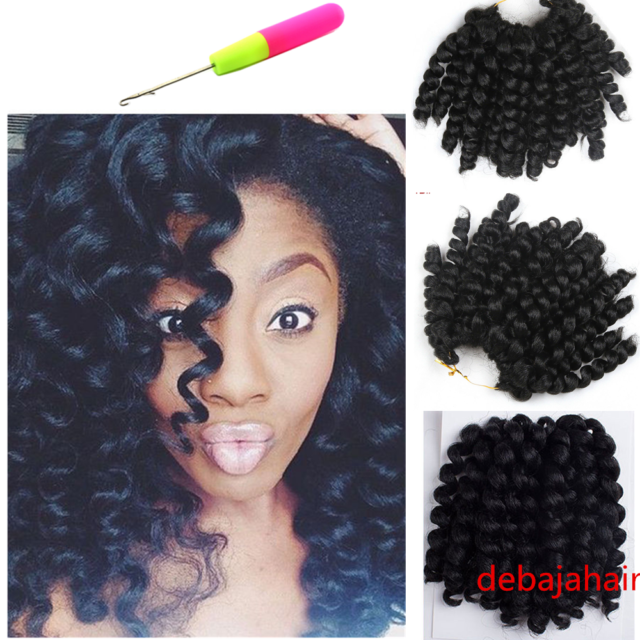 Jumpy Wand Curl 8 Twist Crochet Braid Synthetic Hair Extensions