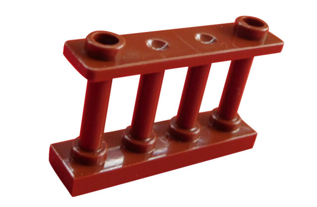Lego 10-pc Cerca Marrón (Marrón Rojizo) 1x4x2 Vallas Barandilla 30055 Nuevo City