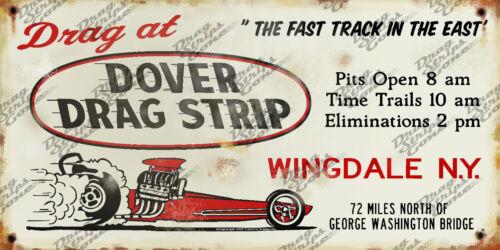 Race at Dover Drag Strip Drag Race Racing Aluminum Sign