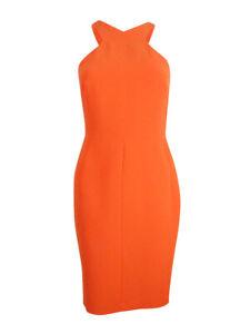 Calvin-Klein-Women-039-s-Scuba-Crepe-Halter-Sheath-Dress