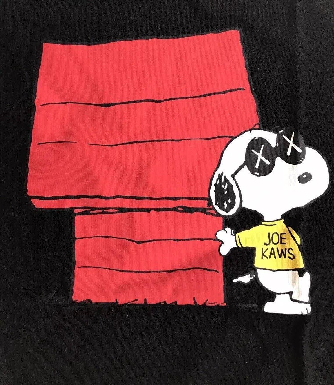 KAWS x Peanuts x UNIQLO 'Snoopy Joe KAWS Doghouse' Graphic Art T-Shirt M Blk NWT