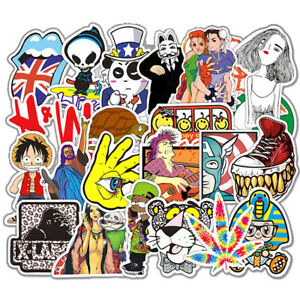 50 RIPNDIP Skateboard Stickers bomb Vinyl Laptop Luggage Decals Dope Sticker Lot Outdoor Sports