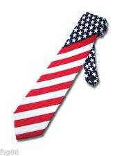 NEW American Flag Men's Neck Tie USA Patriotic NeckTie   US Seller