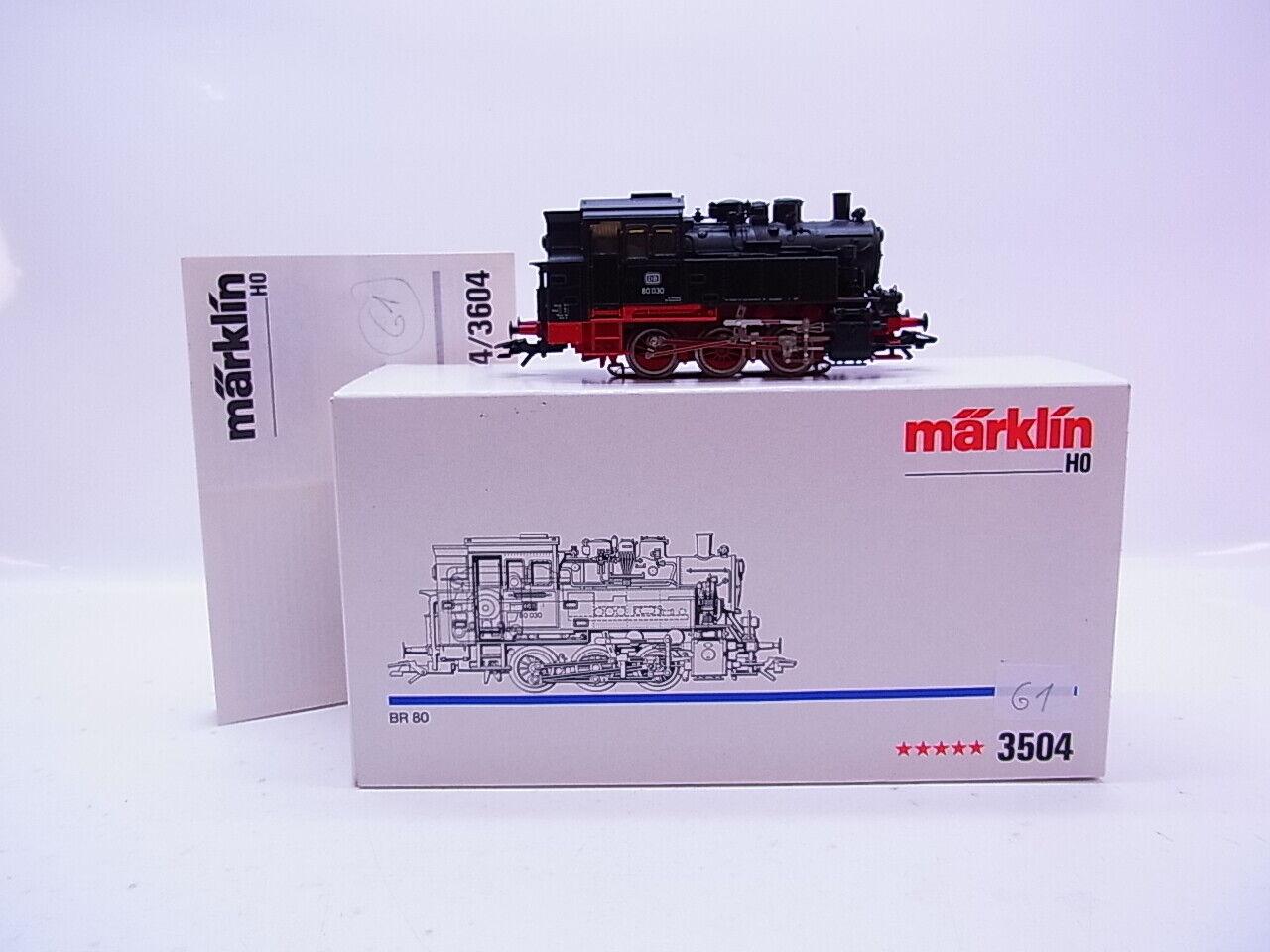 Lot 61273   marklin h0 3504 Tenderlok BR 80 delle DB 5 stelle di propulsione in scatola originale