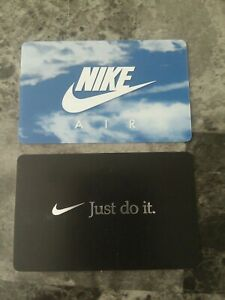 2 100 Nike Gift Cards Total 200 Unused Ebay