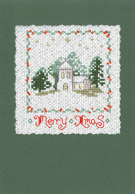 Shop Window Christmas Cross Stitch Card Kit
