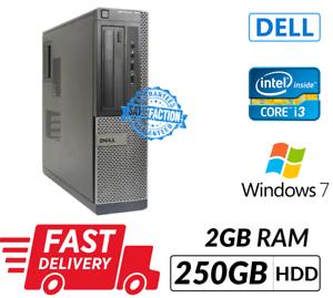 Dell Optiplex 390 DT Intel Core i3-2120@3.30GHz 2GB RAM 250GB HDD Windows 7 pro