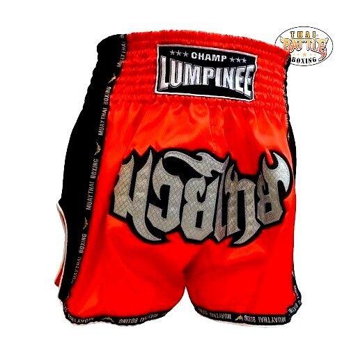 Muay thai boxing shorts MMA trunks satin premium quality champ lumpinee red