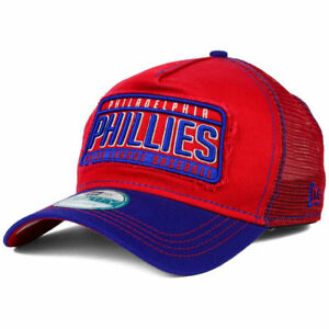 38152b065 Details about Philadelphia Phillies New Era MLB Trip Trucker Mesh  Adjustable Baseball Cap Hat
