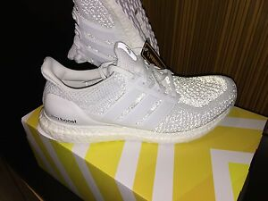 all white adidas ultra boosts