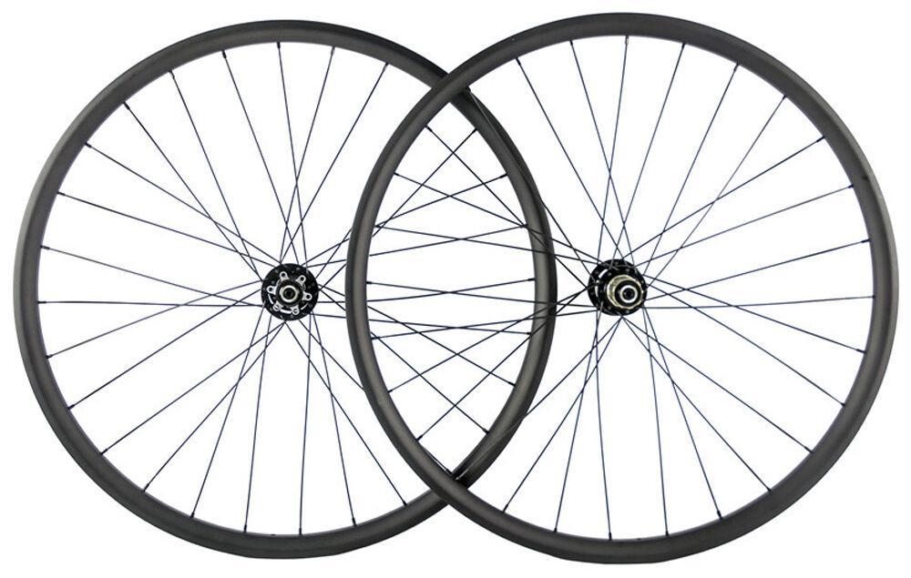 29ER Carbon MTB Wheelset 30mm Width 25mm Depth with Novatec hub 3k matte mtb rim