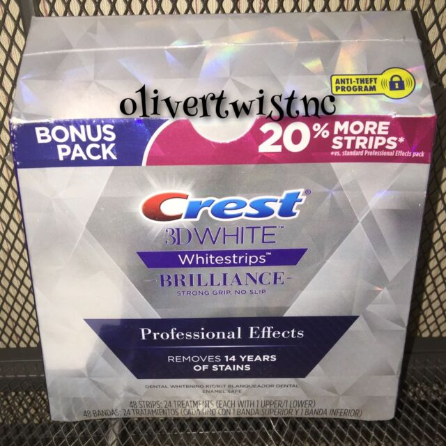 CREST BRILLIANCE 3D White Professional Effects Whitestrips