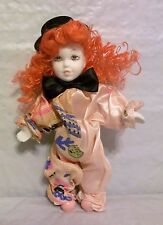 """MUSICAL GIRL CLOWN DOLL 8"""", PRESS STOMACH AND PLAYS SEVERAL SONGS"""