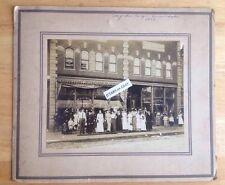 1912 McALLISTER FURNITURE STORE CABINET PHOTO, COFFINS, CASKETS, COVINGTON, VA