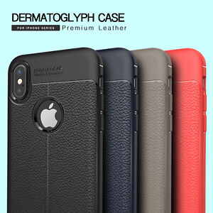 Soft-TPU-Lychee-Pattern-Leather-Cover-Case-For-iPhone-X-s-8-7-Plus-6-6s-5-SE