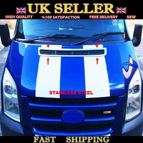 acero Ford Transit MK7 2006-2014 Campana de ventilación Cromo Sombrero Adorno S
