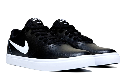 Nike SB Check Solar Mens Womens Black White Leather shoes Brand New Size UK 11