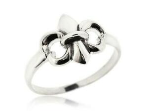 Gorgeous 925 Sterling Silver Fleur De Lis Ring For Women Orleans Size 5 12 New Ebay