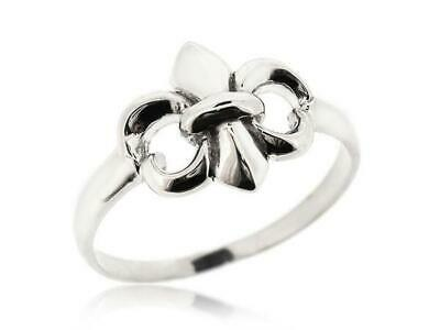 Gorgeous 925 Sterling Silver Fleur De Lis Ring For Women