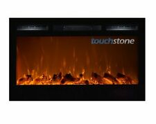 "36"" Black Electric Fireplace Sideline36™ Recessed Inset/Mounted NEW! Touchstone"