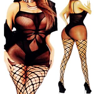 df67043e04 Image is loading Bodystocking-Fishnet-Bodysuit-Nightwear-Lingerie-Sexy- Sleepwear-Crotchless-