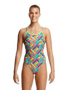 Details about Funkita Ladies Panel Pop Twisted One Piece Swimsuit FKS010L02211 Swimwear