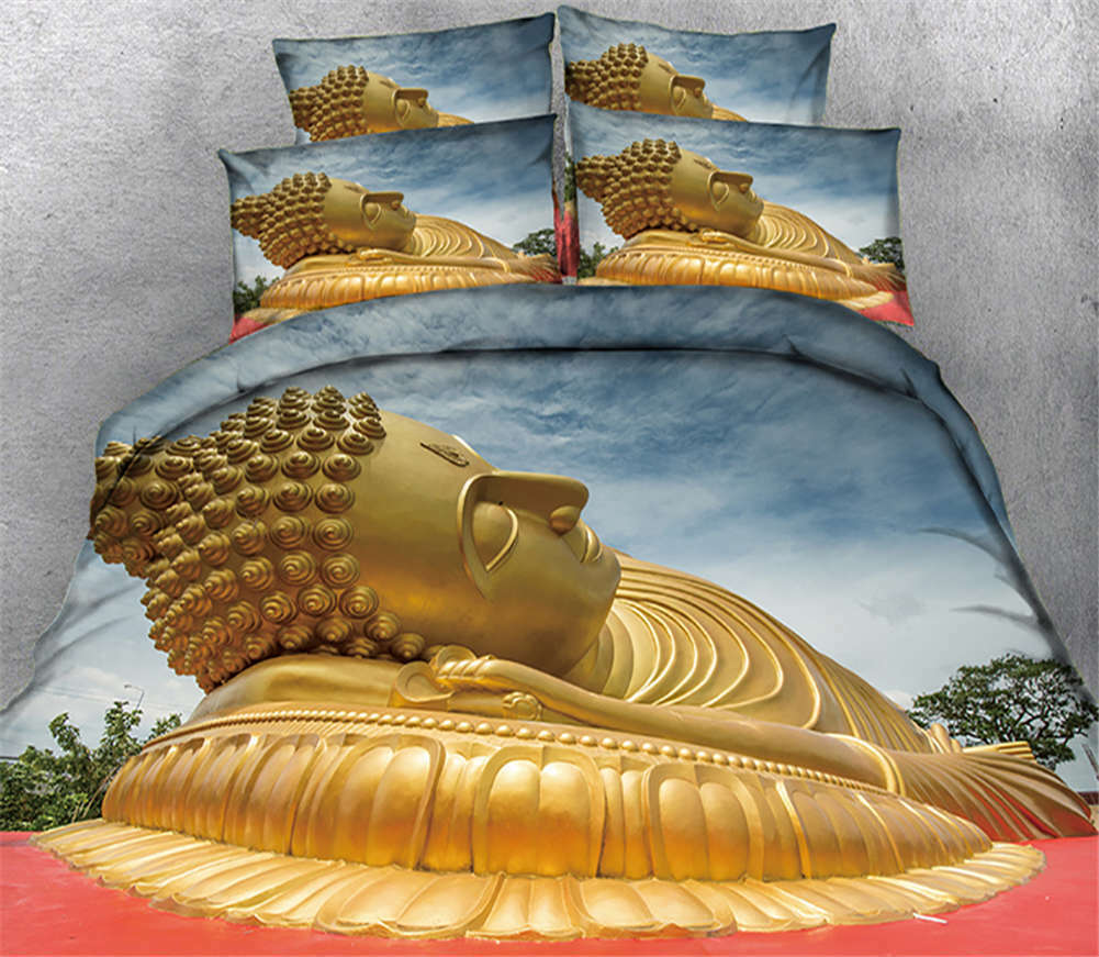 Recumbent Buddha 3D Printing Duvet Quilt Doona Covers Pillow Case Bedding Sets