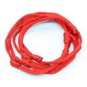 Détails sur 5 bracelets ROUGE à cordon chanceux kabbale faits main pour succès et chance