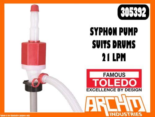 FLEXIBLE DISCHARGE TUBE SYPHON PUMP SUITS DRUMS 21 LPM TOLEDO 305392