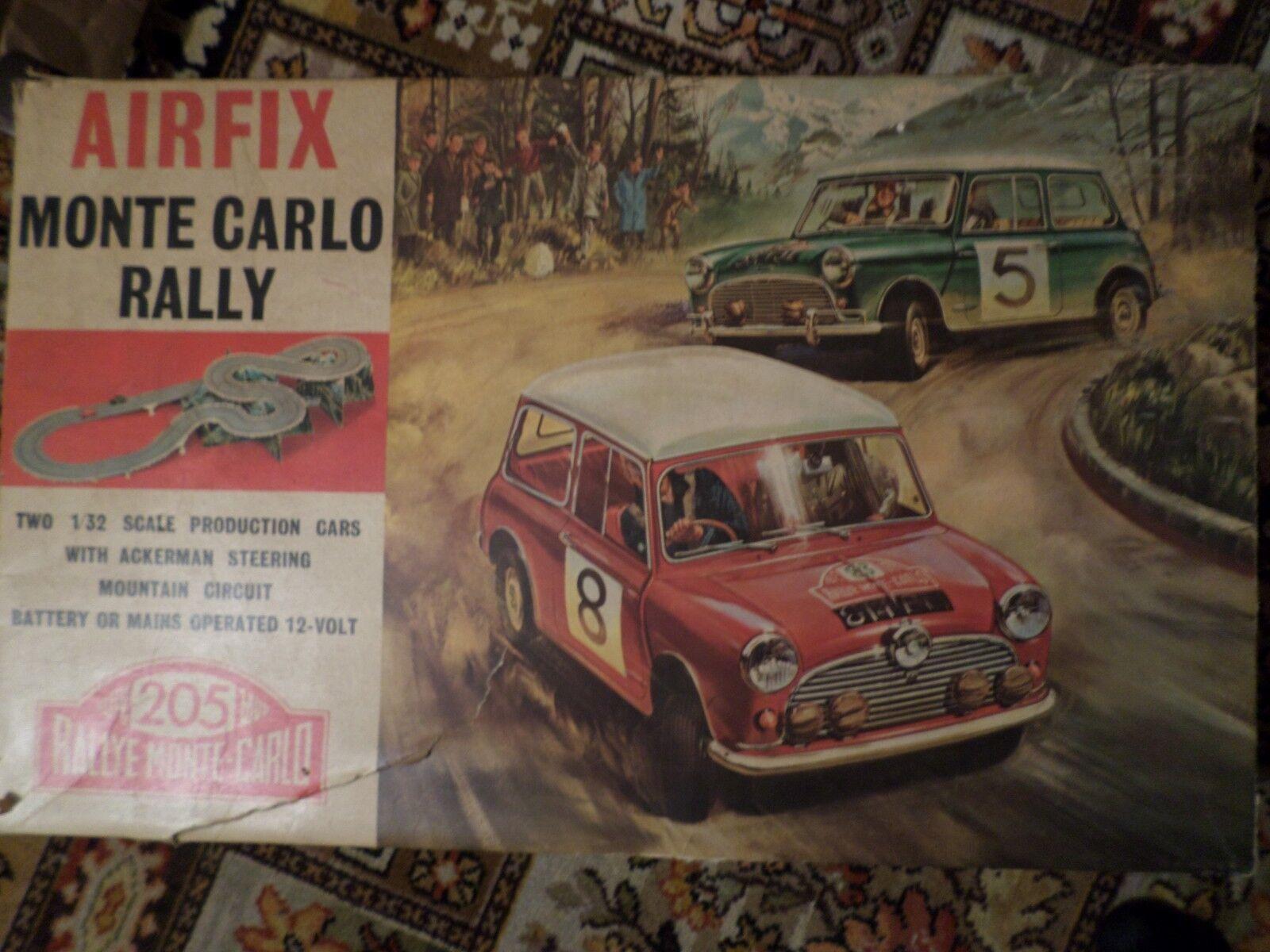 Airfix Mini Monte Carlo rally slot car set Boxed Rare