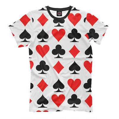 Playing cards T-shirt - poker card game excitement HQ print