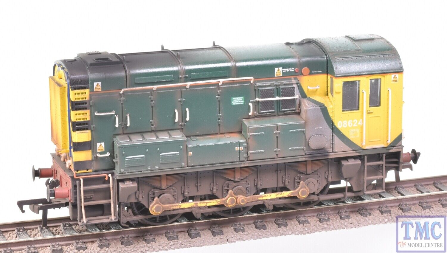32-121 Bachmann OO Gauge Class 08 08624 with Deluxe Weathering by TMC