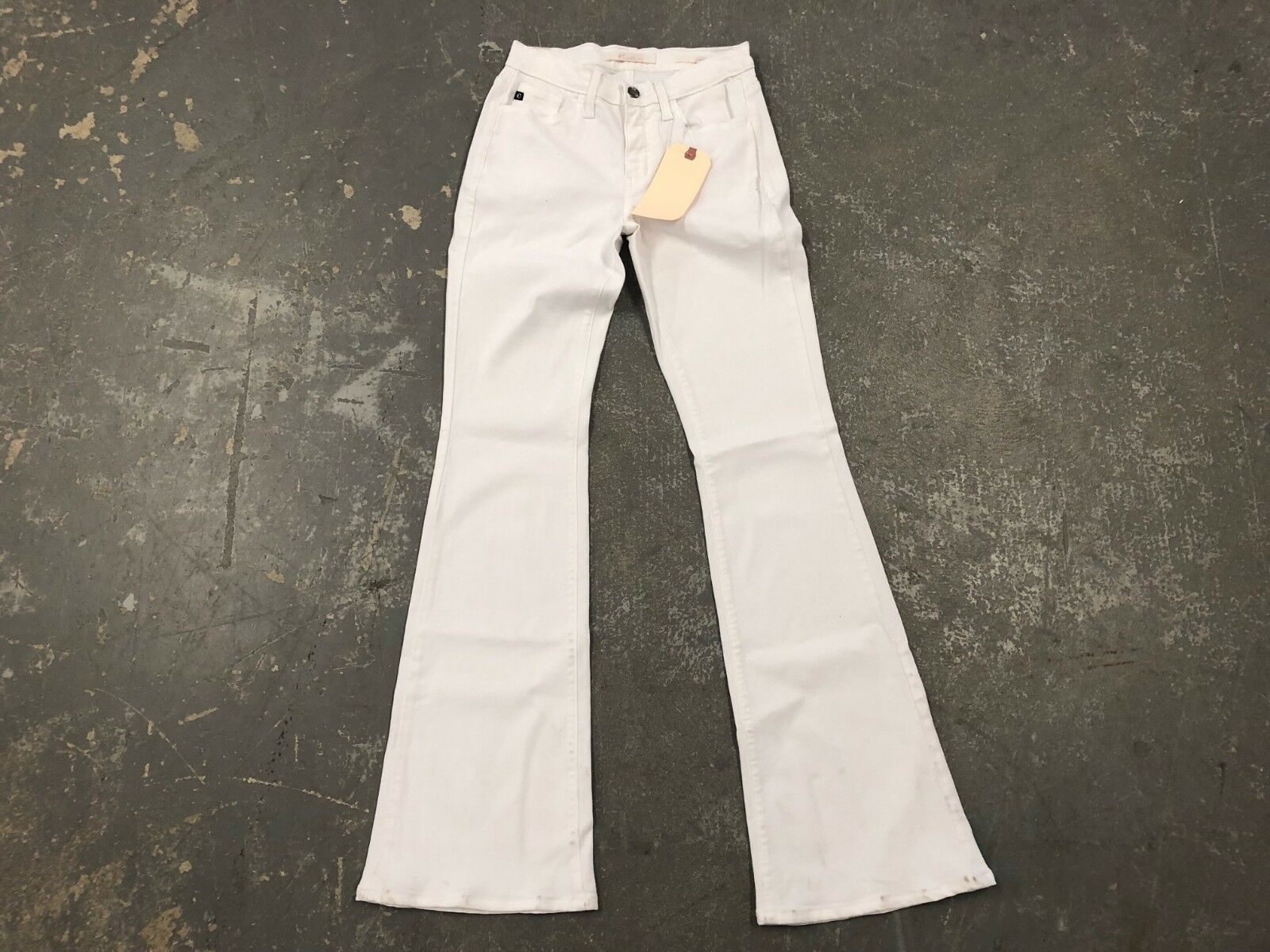 NWT LADIES KANCAN JEANS WHITE STRETCH CARY KENTON BOOT CUT SIZE 3   25 99  USA